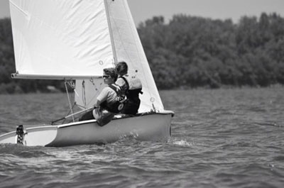 Junior partakes in sailing competitions