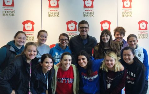 NHS members volunteered at the Akron-Canton Regional Food Bank to obtain hours necessary for membership.