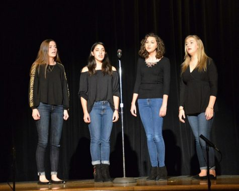 Freshman participates in showchoir, writes, records original songs