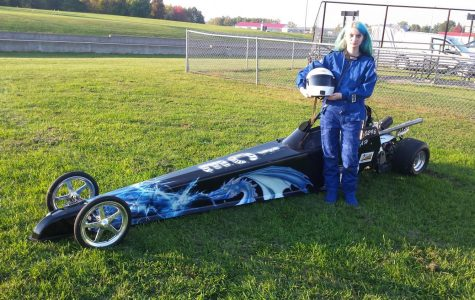 Student participates in drag racing motorsport