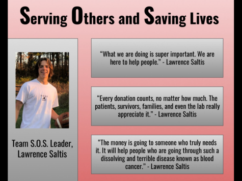Junior Lawrence Saltis helps fundraise in support of Leukemia and  Lymphoma patients.