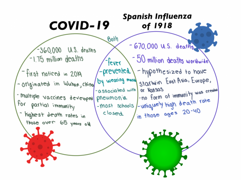 Compare and contrast of 2020 pandemic to the Spanish Influenza.