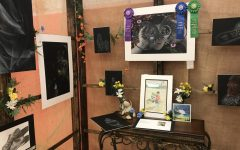 One of the many student booths featured at the Celebration of the Arts.