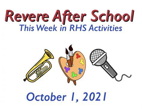 RHS Activities: Week of October 1, 2021