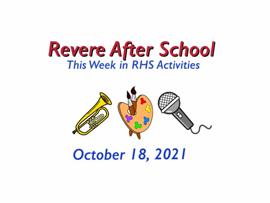 RHS Activities: Week of October 18, 2021