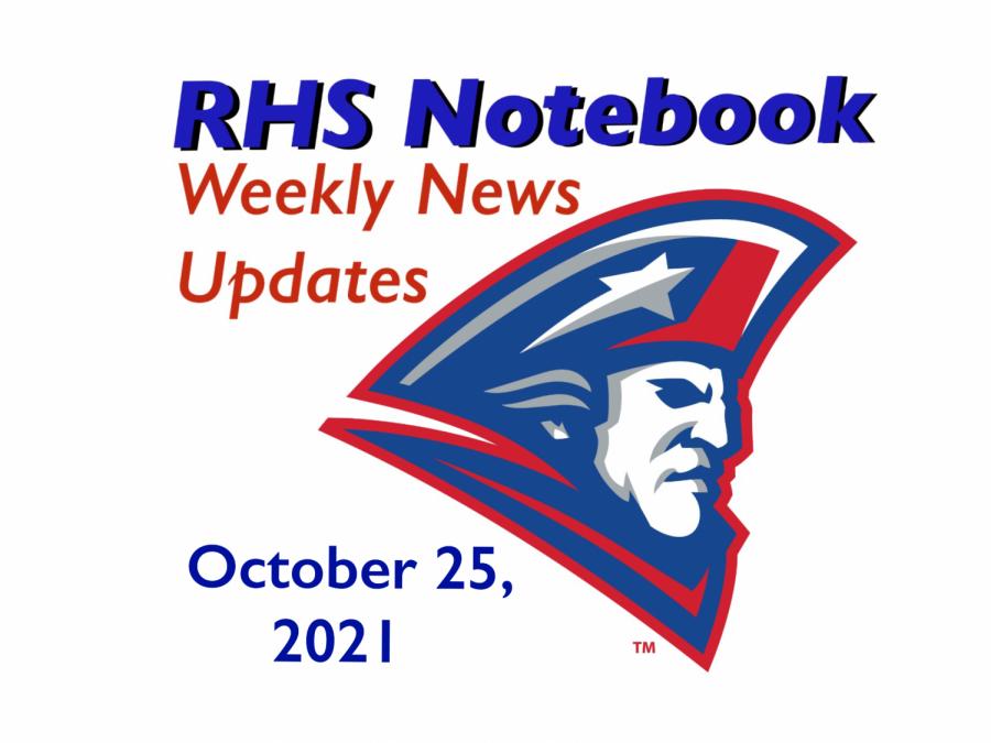 RHS Notebook: Week of October 25, 2021
